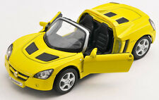 BLITZ VERSAND Opel Speedster 2001 gelb / yellow Welly Modell Auto 1:34 NEU & OVP