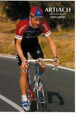 CYCLISME carte cycliste VICENTE RIDAURA SEBASTIAN équipe ARTIACH 1993
