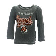 Cincinnati Bengals Nfl Infant Toddler Size Girls Long Sleeve Sheer Shirt New