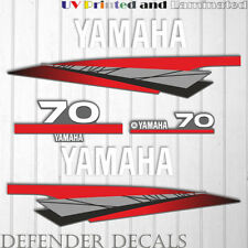 Yamaha 70 HP Two 2 Stroke outboard engine sticker decal kit reproduction 70HP
