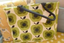 Orla Kiely Tesco charity jute reusable shopper shopping bag BNWT apple design