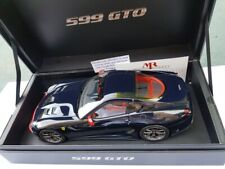 FERRARI F 599 GTO  BLEU POZZI AU 1/18 PAR MR COLLECTION.
