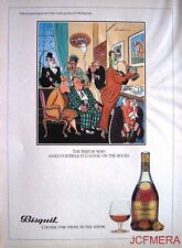 1979 BISQUIT Cognac 'The Visitor' Advert - Jensen after Bateman Series Print AD