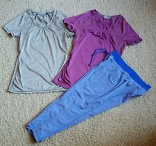 Lot of 3 (Women's XXS/Girl's M) ATHLETA Athletic Tennis Shirts & Cropped Pants