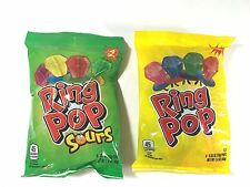 8 Ring Pop Candy 2 Bags Containing 4 Each New Sealed Bags Fruit & Sour