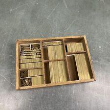 4p fette Messinglinien - Messing Linien Bleisatz Buchdruck Handsatz Letterpress