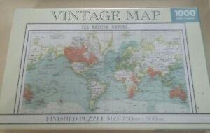 The British Empire Vintage World Map 1000 Piece Jigsaw Puzzle Robert Frederick