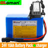 24V10AH Li-ion Battery Volt Rechargeable Bicycle 500W E Bike Electric + Charge