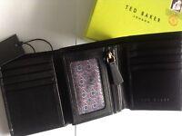 TED BAKER Men's Black Leather Trifold Wallet BNIB BNWT