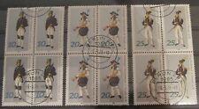 DDR Briefmarken 1978 Paradetrachten aus dem Bergbau 4-er Blöcke Gummiert