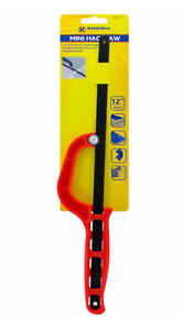 "12"" 300mm Mini Hacksaw Hand Padsaw Pad Saw DIY Woodwork Metalwork RED"