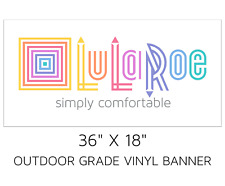 "LuLaRoe logo vinyl BANNER 36"" x 18"" - POP UP Boutique Trade Show"