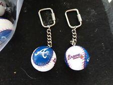 Vintage Atlanta Braves Lil Brats Baseball Key Chains 10 Pc Lot Free Shipping