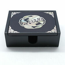 Elegant figure Mother of pearl inlay jewelry box wooden trinket storage box