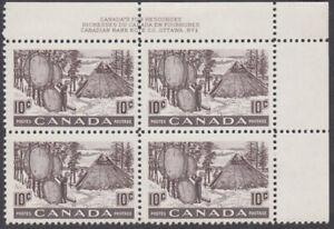 Canada - #301 Fur Resources Plate Block #1 - MNH