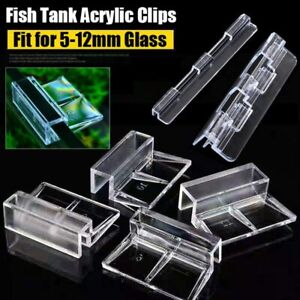 Aquarium Fish Tank Acrylic Clips Fish Aquatic Pet Parts Cover Support Holders