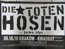 DIE TOTEN HOSEN  2010  KRAKAU - orig. Concert Poster - Konzert Plakat  A2 NEU