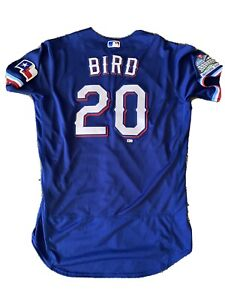 Greg Bird Inaugural Patch Nike Texas Rangers Game Issued Jersey 2020
