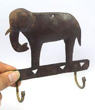 Vintage Collectible 2 Hook Wall Hanger Elephant Figure Decorative. i75-133 US