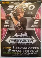 ✅⚾️🔥2020 Panini Prizm Draft Picks Baseball Retail Blaster Box Factory Sealed
