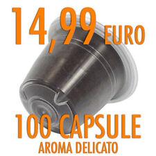 100 CAPSULE CIALDE COMPATIBILI NESPRESSO CAFFE' ITALIANO AROMA DELICATO