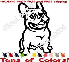 BOGO FREE!! French Bulldog Frenchie Vinyl Decal Sticker Car Window laptop COLORS