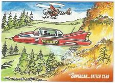 Supercar Gerry Anderson Sketch Card drawn by Graham Bleathman
