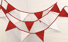 Stoke City bunting colours ** 10 mtr ** Red and White