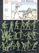 Glencoe Marx Plastic Recast World War II Set of 20 U.S. Marines Figures NEW!