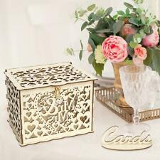 Wood Gift Card Case Money Box DIY Wedding Birthday Party Cards Holder Container