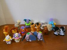17 Fisher Price Little People TOUCH & FEEL ANIMALS Zebra Horse Goat Elephant