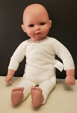 "Kingstate Corp Baby Doll 18"" Plush Soft Body Bald Head Eyelashes EXCELLENT COND"