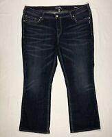 "Silver Jeans Womens Aiko Mid Boot Cut Jeans Sz 24 X 30"" Blue Denim Pants Stretch"