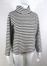 J.Crew Women's Striped Sweater Pullover Cotton Turtleneck Long Sleeve Sz S/M