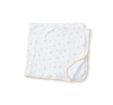 "Ralph Lauren Baby Neutral Baby Duck Print Blanket- Soft Yellow 29½"" x 26½"""