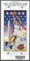 2000-2001 NBA ALL-STAR GAME FULL UNUSED BASKETBALL TICKET - LAKERS KOBE BRYANT