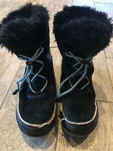 Sorel Waterproof Winter Boots 7 Lace up Fur ski snow rain boot Joan of Arctic