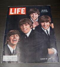 LIFE MAGAZINE AUGUST 28 1964 THE BEATLES COVER PAUL JOHN GEORGE RINGO NICE!!