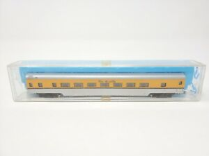 Con-Cor Rio Grande Passenger Coach Silver & Yellow N Scale with Case