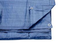 Bleu Bâche Couverture Sol avec Œillets 3.5M X 5.4M 80 Gsm