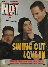 Swing Out Sister on Magazine Cover 1987   The Mission   Bangles  Berlin  Run DMC