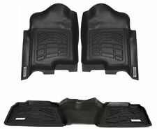 COMBO Front & 2nd Row Sure-Fit Floor Mats 2007-2014 GMC Yukon XL / Denali XL