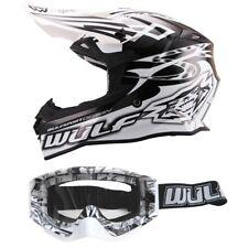 Wulfsport Cross Brille + Helm Sceptre XL 61-62 schwarz/weiss Motorrad Quad Bike