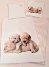 """Bed Linen Set """" Puppies """" , Duvet Cover Set, 100% Cotton"""