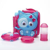 Smash Kids / Girls Insulated Animal Cat School Lunch box Bottle-Food Containers