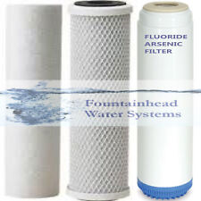 Sediment/Fluoride/Arsenic/Carbon Block Filters  Upgrade or Refill Systems