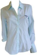 MY Camicia camicetta casual donna verde acqua cotone elasticizzato strech Tag. L