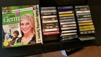 Cassette Tape Lot 40 + Cassettes Wide Variety Check The Photos - learn german
