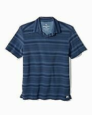 Tommy Bahama Dockside Blue Poolside Stripe Terry Polo Shirt