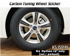 "Carbon Tuning Wheel Mask Sticker For Kia Optima ; K5 15"" [2010~on]"